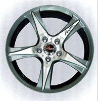 Колесный диск 4go RU008 6.5x16/5x105 D65.1 ET39 тёмно-серый с алм.обр.лиц.поверх (GMMF)