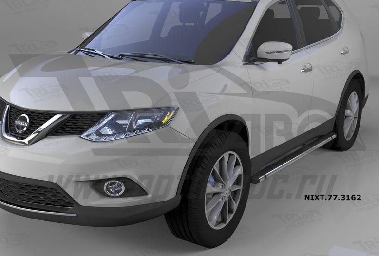 Пороги алюминиевые (Emerald Black) Nissan X-Trail (2014-), NIXT773162