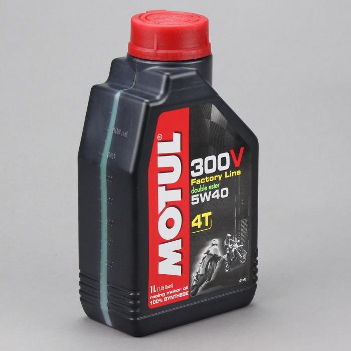 Масло моторное MOTUL 300V 4T FACTORY LINE, 5W-40, 1л, 101339