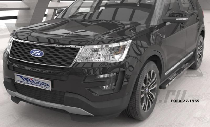 Пороги алюминиевые (Emerald Black) Ford Explorer (2011-), FOEX771969