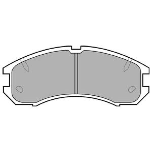 Колодки дисковые, DELPHI, LP595