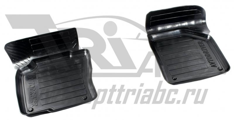 Коврики салона резиновые с бортиком для Volkswagen Passat В6(2005-2010) (2 передних), ADRPRO2282