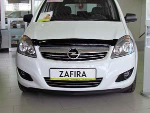 Дефлектор капота Opel Zafira B(2006-2012) (темный), SOPZAF0612