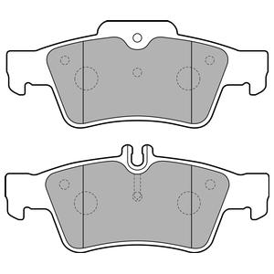 Колодки дисковые, DELPHI, LP1868