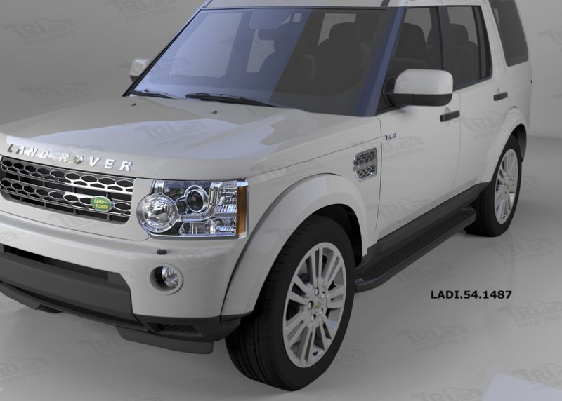 Пороги алюминиевые (Sapphire Black) Land Rover Discovery 4 (2010-)/Discovery 3 (2008-2010), LADI5414