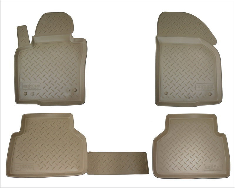 Коврики салона для Nissan Almera (Ниссан Альмера) (RU(G11) (2013-) (бежевый), NPA11C61020BEIGE