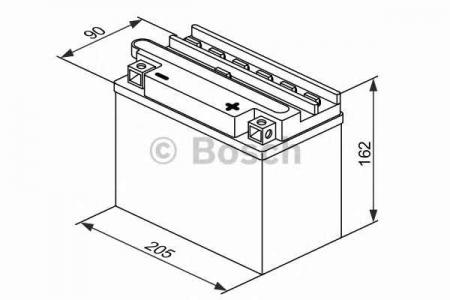 Аккумуляторная батарея Bosch Funstart FreshPack, 12 В, 20 А/ч, 200 А, 0092M4F480