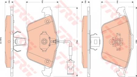 Колодки дисковые Передние, TRW, GDB1832