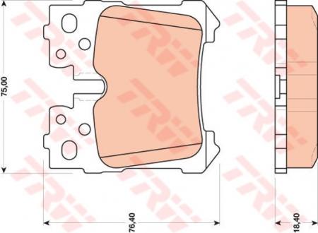 Колодки дисковые Задние, TRW, GDB3475