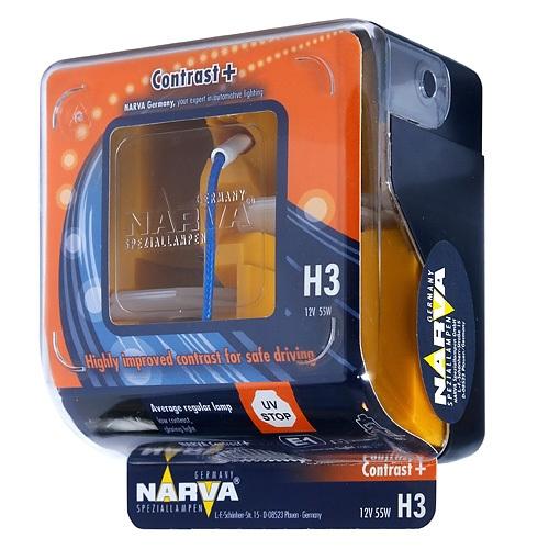 Лампа 12 В, 55 Вт, H3, Pk22s, NARVA, 98653