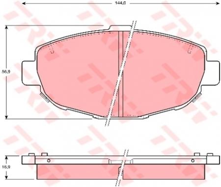 Колодки дисковые Передние, TRW, GDB1184