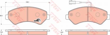 Колодки дисковые Передние, TRW, GDB1703