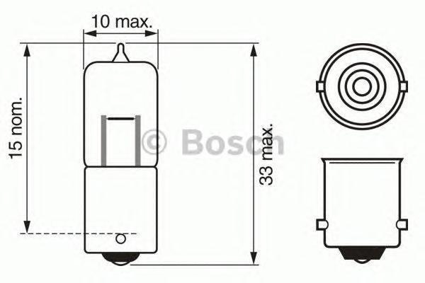 Лампа Pure Light, 12 В, 10 Вт, BA9s, BOSCH, 1 987 302 233