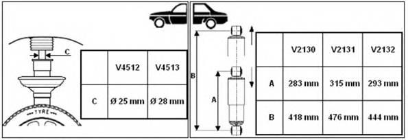 Амортизатор газовый, передний, MAGNETI MARELLI, 351973070000