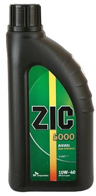 Моторное масло ZIC 5000, 10W-40, 1л, 133128