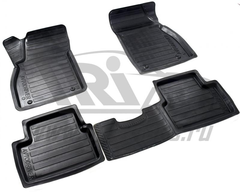 Коврики салона резиновые с бортиком для Chevrolet Malibu (2012-), ADRAVG115