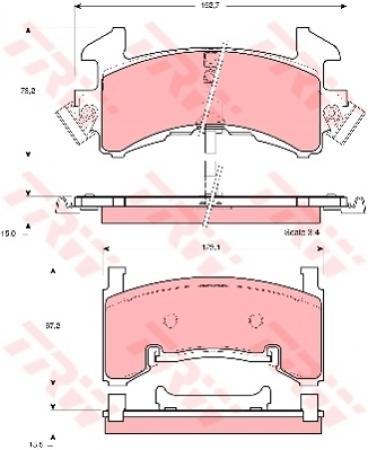 Колодки дисковые Передние+Задние, TRW, GDB1272