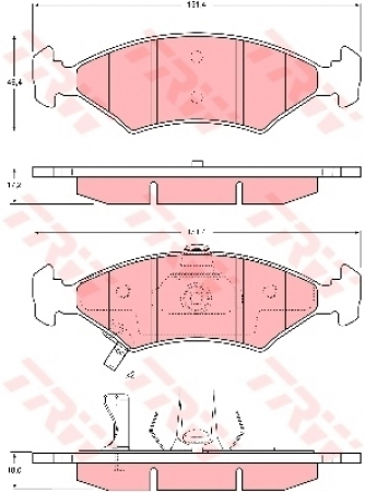 Колодки дисковые Передние, TRW, GDB3224