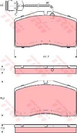 Колодки дисковые Передние, TRW, GDB1523