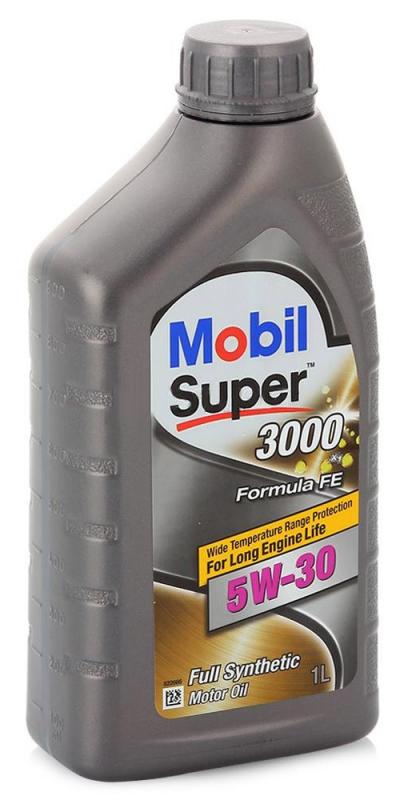 Моторное масло Mobil Super 3000 X1 Formula FE, 5W-30, 1л, 152565