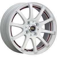 Колесный диск Cross Street Y355 6.5x15/4x114,3 D71.6 ET40 матовый белый с красной полосой по ободу в