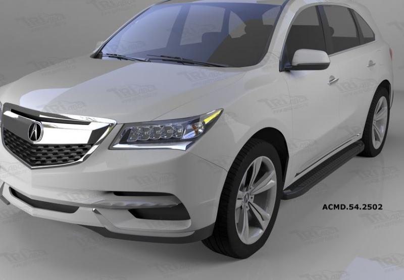 Пороги алюминиевые (Sapphire Black) Acura MDX (2014-), ACMD542502