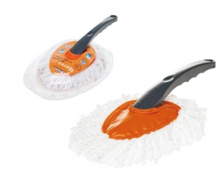 Щетка для удаления пыли из микрофибры на пластиковой ручке, L=65см, AIRLINE, ABF02