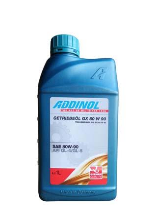 Трансмиссионное масло ADDINOL Getriebeol GX 80W 90 SAE 80W-90 (1л)