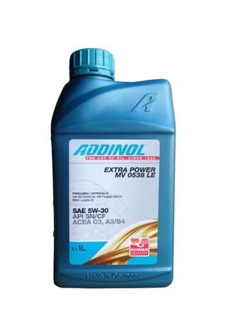 Моторное масло ADDINOL Extra Power MV 0538 LE SAE 5W-30 (1л)