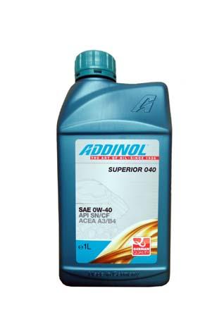 Моторное масло ADDINOL Superior 040 SAE 0W-40 (1л)