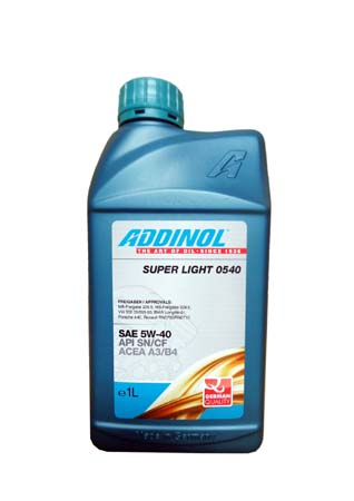 Моторное масло ADDINOL Super Light 0540 SAE 5W-40 (1л)