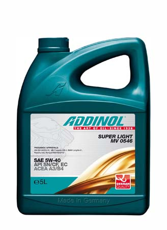 Моторное масло ADDINOL Super Light MV 0546 SAE 5W-40 (5л)
