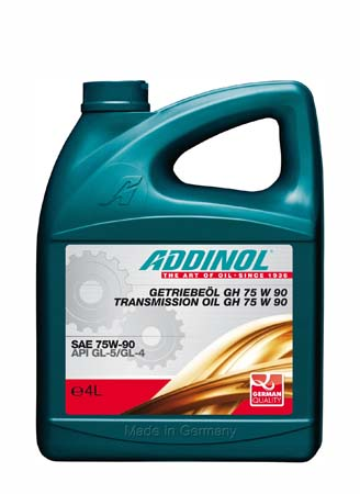 Трансмиссионное масло ADDINOL Getriebeol GH SAE 75W-90 (4л)