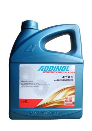 Трансмиссионное масло ADDINOL ATF D III (4л)