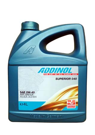 Моторное масло ADDINOL Superior 040 SAE 0W-40 (4л)