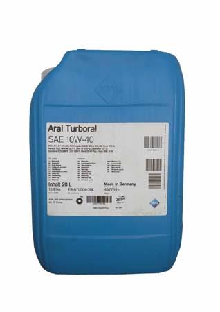Моторное масло ARAL Turboral SAE 10W-40 (20л)