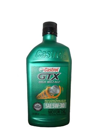 Моторное масло CASTROL GTX High Mileage SAE 5W-30 Motor Oil (0.946л)