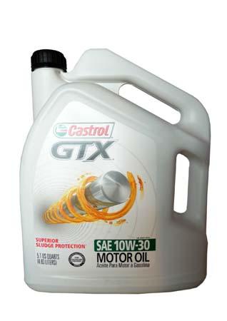Моторное масло CASTROL GTX SAE 10W-30 Motor Oil (4,83л)