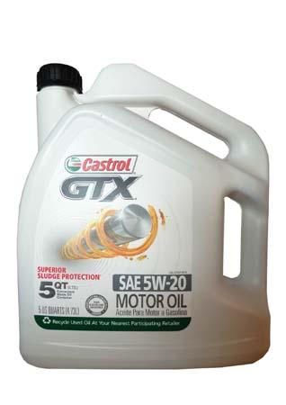 Моторное масло CASTROL GTX SAE 5W-20 Motor Oil (4,73л)