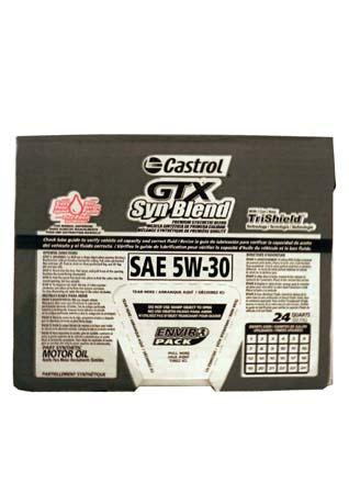 Моторное масло CASTROL GTX Syn Blend SAE 5W-30 Motor Oil (0,946л)