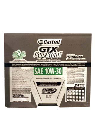 Моторное масло CASTROL GTX Syn Blend SAE 10W-30 Motor Oil (0,946л)