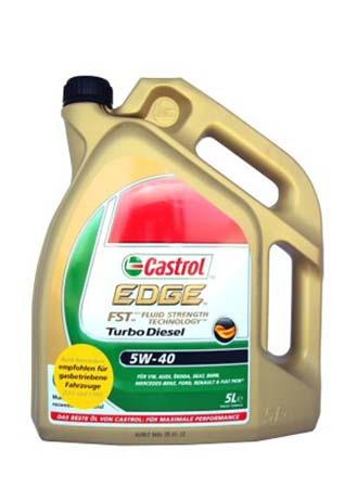 Моторное масло CASTROL EDGE Turbo Diezel, 5W-40, 5л, 55275