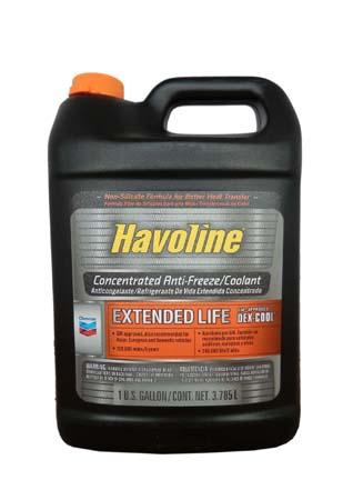 Антифриз концентрированный., оранжевый CHEVRON Havoline Dex-Cool Extended Life Antifreeze/Coolant (3