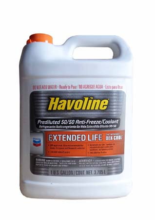 Антифриз готовый к прим., оранжевый CHEVRON Havoline Prediluted 50/50 Dex-Cool Extended Life Antifreeze/Coolant (3,785л)