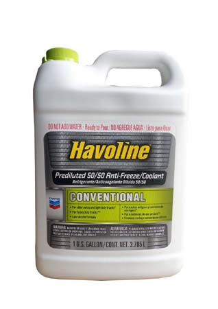 Антифриз готовый к прим. зеленый CHEVRON Havoline Conventional Prediluted 50/50 Antifreeze/Coolant (