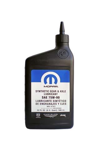 Трансмиссионное масло MOPAR Synthetic Gear  Axle Lubricant SAE 75W-90 (0,946л)