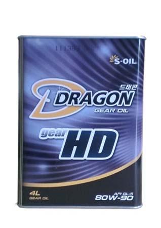 Трансмиссионное масло DRAGON Gear HD SAE 80W-90 (4л)