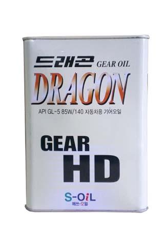Трансмиссионное масло DRAGON Gear HD SAE 85W-140 (4л)