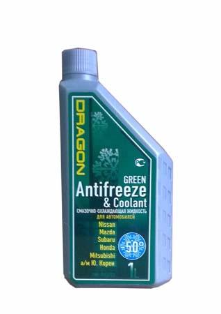 Антифриз готовый к прим. зеленый DRAGON Green Antifreeze&Coolant -50*C (1л)