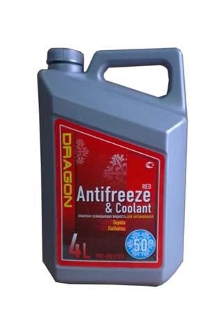 Антифриз готовый к прим. красный DRAGON Red Antifreeze&Coolant -50*C (4л)